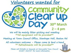 Community Clear Up day 30th March 2pm